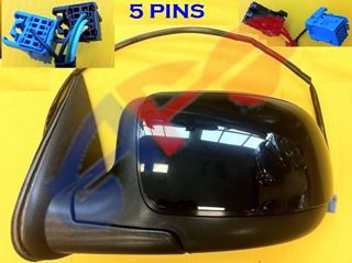 """Picture of MIRROR 03-06 LH PTD PWR HT W/BODY CLADDING 26""""-CABLE AVALANCHE/YUKON/TAHOE/ESCALADE"""