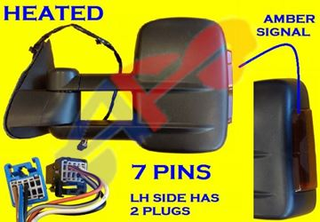 Picture of MIRROR 03-06 LH PW HT TOWING DOUBLE GLASS W/SIG AMB OUTSIDE SILVER/SIERA