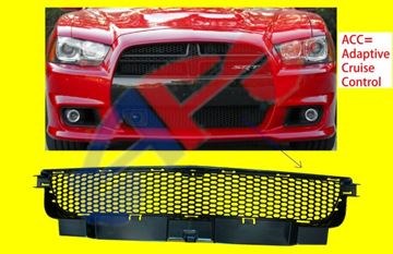 Picture of GRILLE, BUM 12-14 SRT-8 CHARGER W/O ADAPTIVE CRUISE CONTROL,