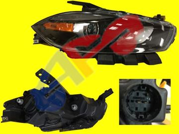 Picture of HEAD LAMP 13-16 RH HALOGEN W/BLK TRIM DART