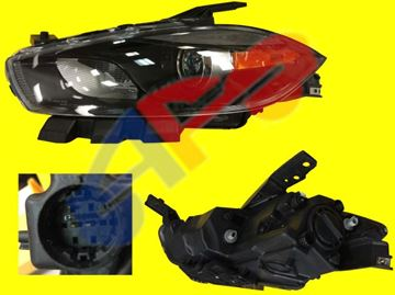 Picture of HEAD LAMP 13-16 LH HALOGEN W/BLK TRIM DART