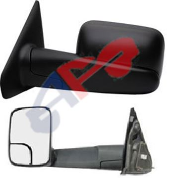 Picture of MIRROR 02-08 LH TXT MAN TOWING W/CURVED-ARM-COVER-SEAM TOWING 1500/03-09 2500/3500 DG TRUCK