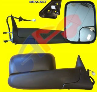 Picture of MIRROR 98-02 RH TXT PWR HT W/BRKT MAN-FOLD TOWING DG TRUCK