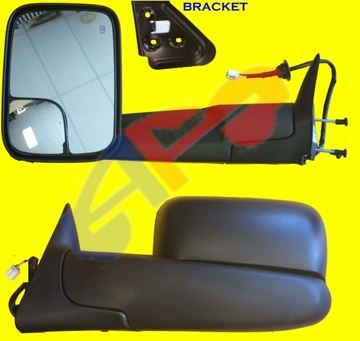 Picture of MIRROR 98-02 LH TXT PWR HT W/BRKT MAN-FOLD TOWING DG TRUCK