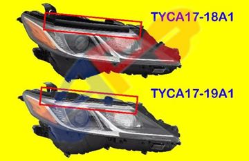 Picture of =TYCA17-18A1 ---> HEAD LAMP 18-23 RH BLK LED W/O LED-SIGNAL L/LE/SE USA-BUILT CAMRY