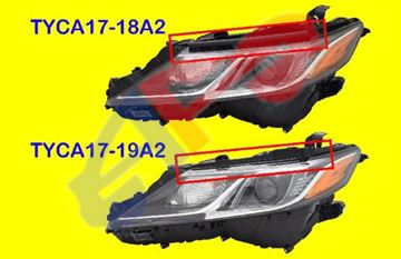 Picture of =TYCA17-18A2 ---> HEAD LAMP 18-23 LH BLK LED W/O LED-SIGNAL L/LE/SE USA-BUILT CAMRY